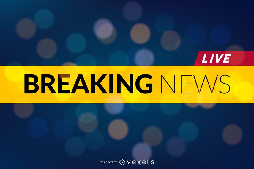 Design For A Breaking News Post Or Publication It Says Breaking News Live The Text Is Editable Breaking News News Header