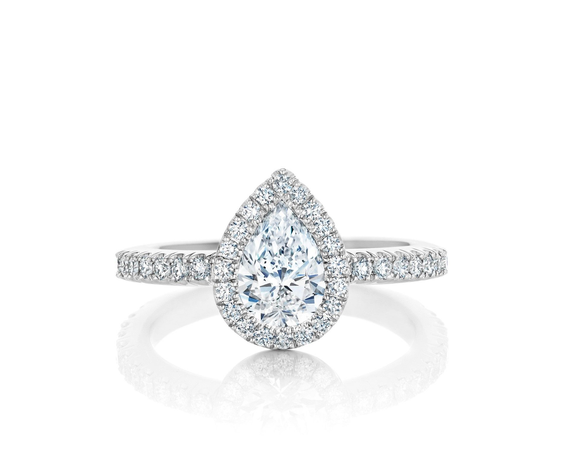 De beers aura pear cut solitaire ring beerengagement wedding