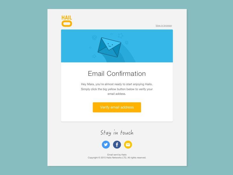 Confirmation Email Template Design  Ui Design    Email