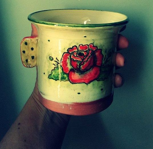 Retrouvez cet article dans ma boutique Etsy https://www.etsy.com/fr/listing/250117002/mug-rose-rouge-flash-old-school-tattoo