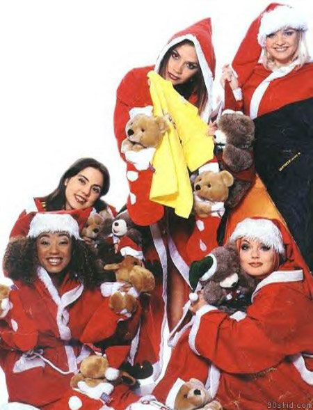 Merry Christmas From The Spice Girls Zigazigah Christmas Girl Spice Girls Christmas Prints