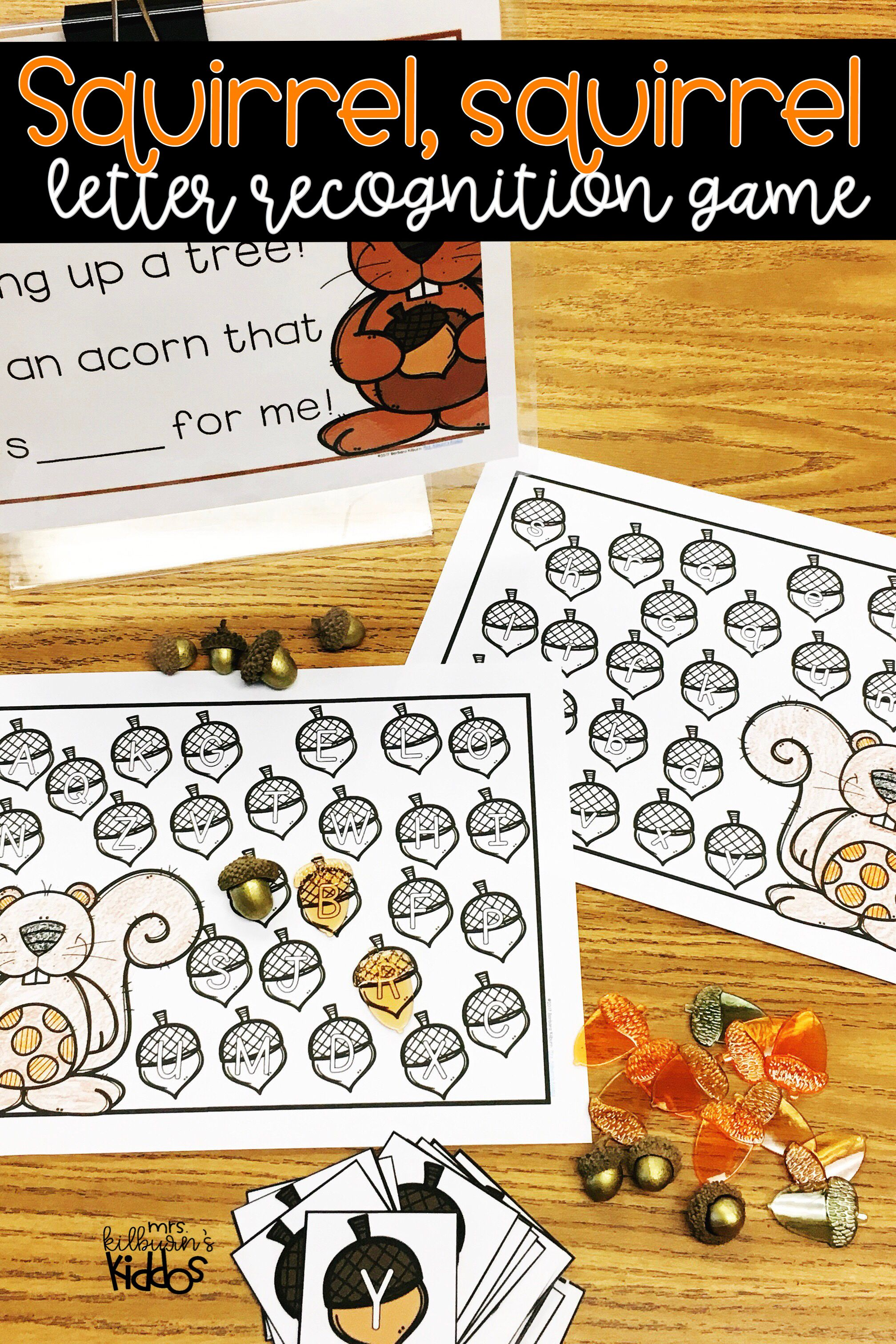 Squirrel Squirrel Letter Recognition Game