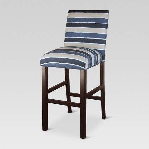 Incredible Parsons 30 Barstool Watercolor Cabana Navy Holds Creativecarmelina Interior Chair Design Creativecarmelinacom