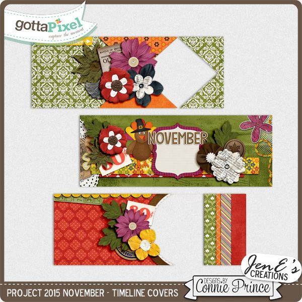 Project 2015 November - Facebook Timeline Covers :: Gotta Pixel Digital Scrapbook Store  $2.99