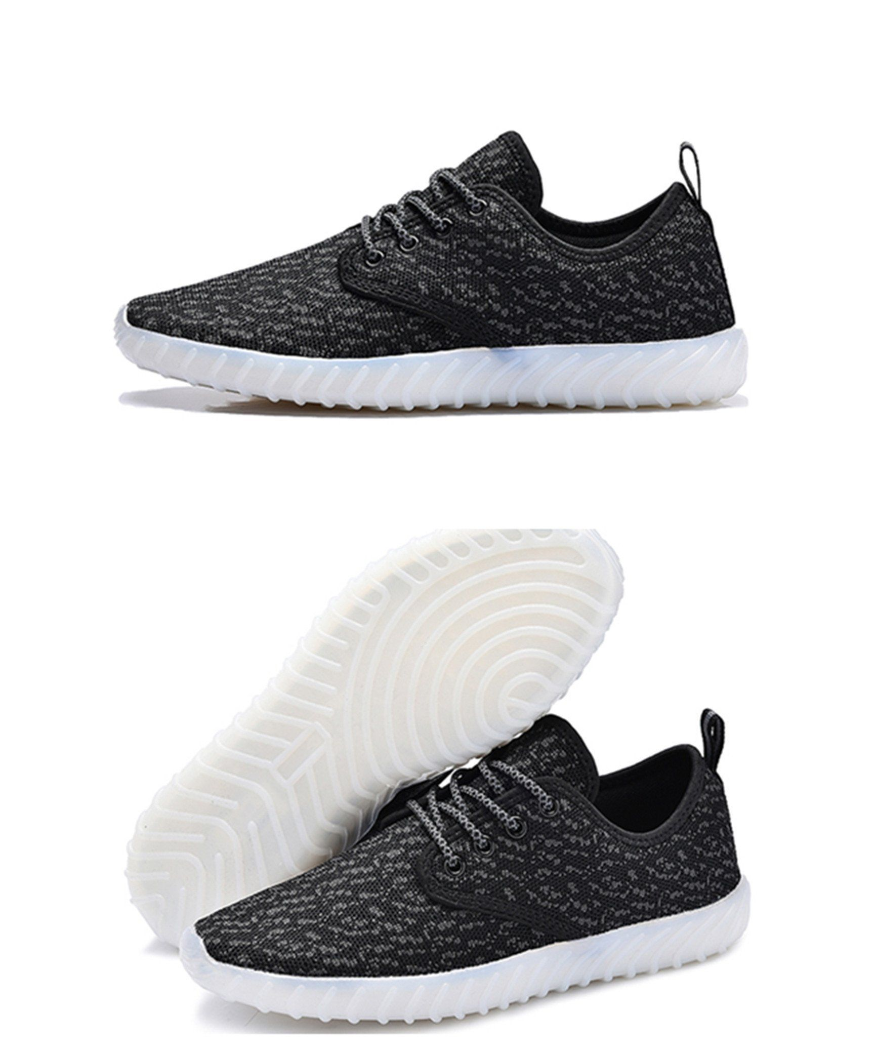 00b241065c014 UNN Led Light up Shoes for Men Women and Kids USB Charging Flashing  Luminous Glowing Sneakers Black 33    Be sure to check out this awesome  product.