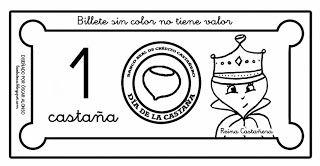CLUB DE IDEAS | Billetes y monedas para el Día de la Castaña (Castañada) ~ La Eduteca
