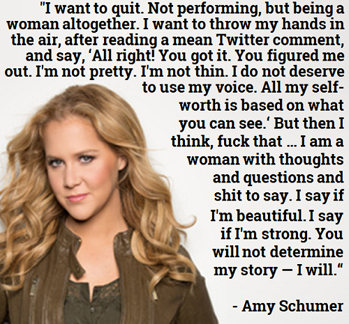 Trainwreck Quotes ♔ I Want To Quitnot Performing But Being A Woman Altogetheri .