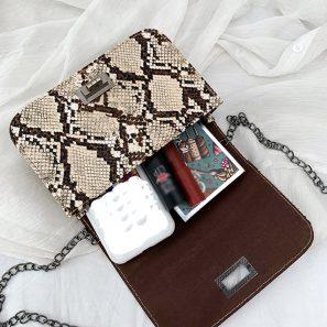 Snake Print luxury Wild Girls Small Square handbags - BeFashionova #snakeprints