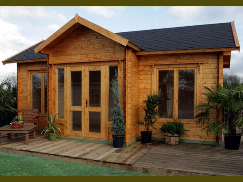 Clubhouse cabin kit cabin kits clubhouses and garden cabins for Hunting cabins kits