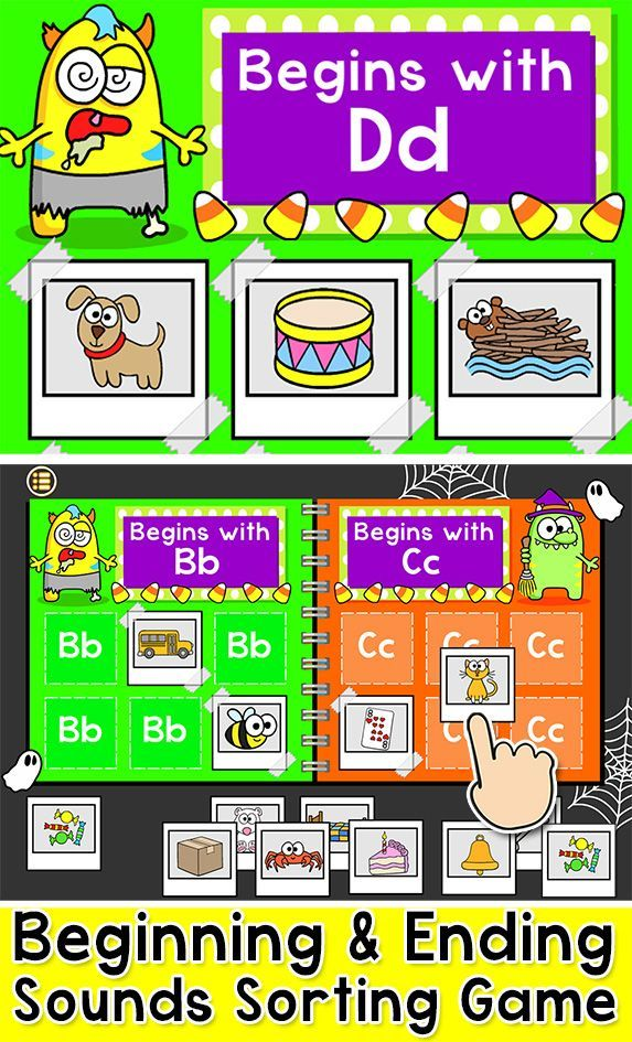 Practice Beginning And Ending Sounds With This Engaging Phonics Sorting Game This Fu Word Work Games Educational Games For Kids Educational Games Kindergarten Phonics online games for kindergarten