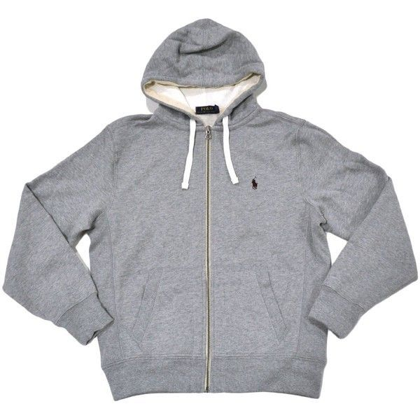 Polo Ralph Lauren Classic Full-Zip Fleece Hooded Sweatshirt featuring  polyvore, women\u0027s fashion, clothing, tops, hoodies, polo, jackets - girls,  ...