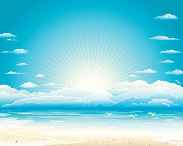 Ocean Sky Vector Free Free Sky Vector Background Sky Images