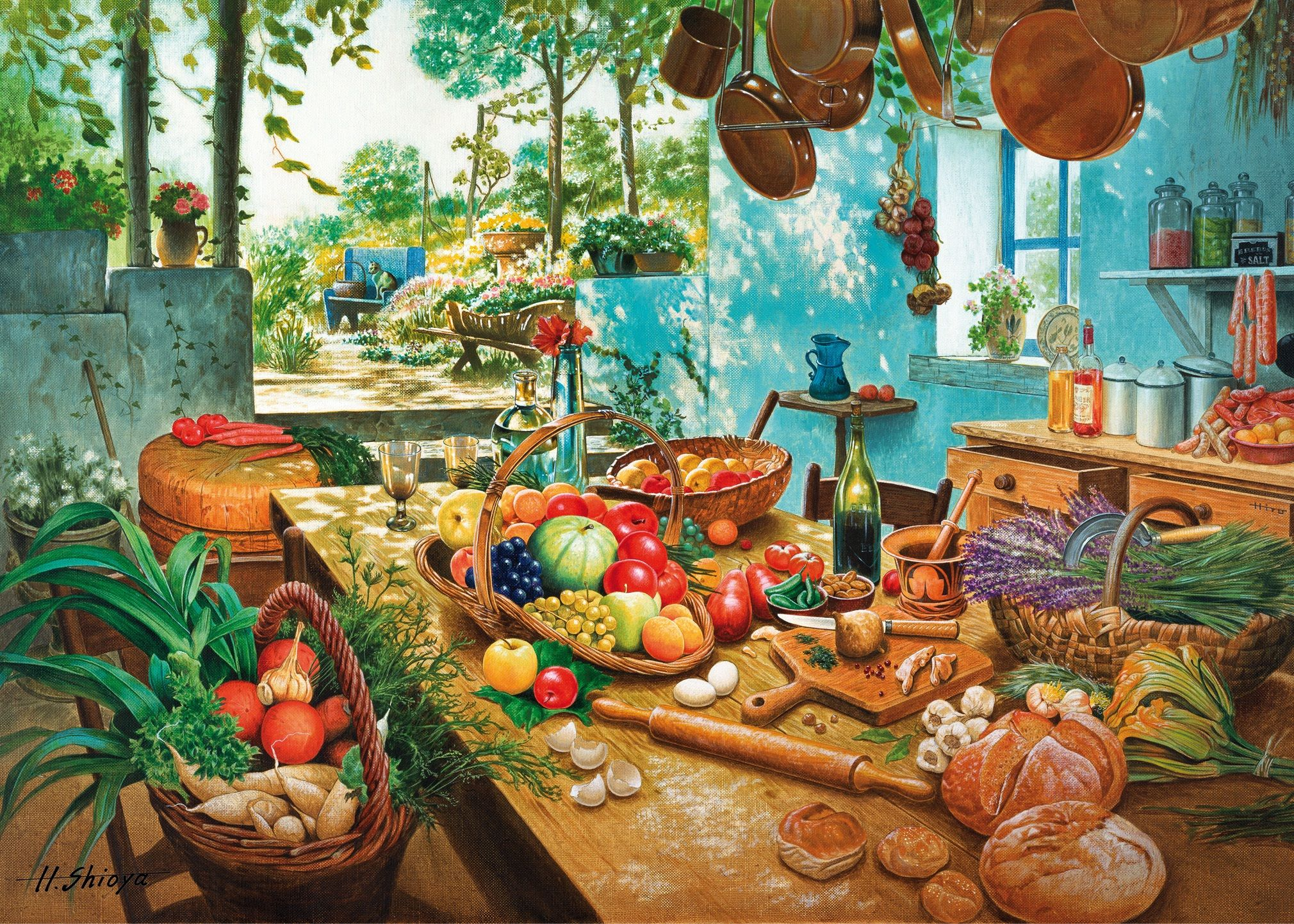 Mother\'s Kitchen\' - #wooden #jigsaw #puzzle - beautiful colourful ...