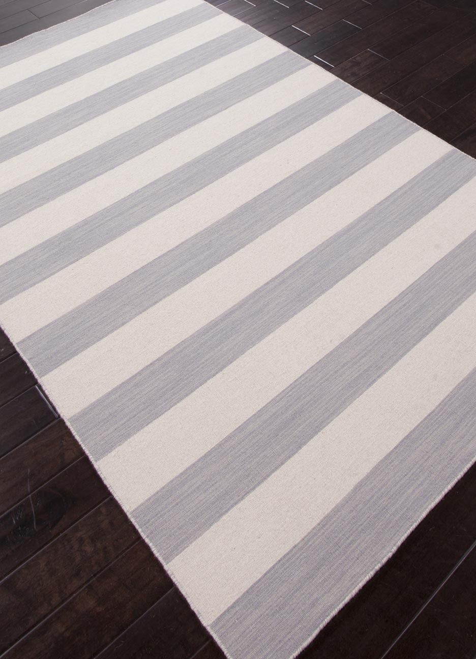 Dias Collection From Jaipur Gray And White Striped Area Rug