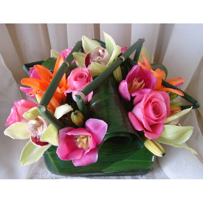 tropical Flower Arrangements Centerpieces Flores tropicales!