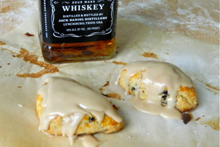 Spiked Cherry Scones with Bourbon Vanilla Glaze recipe on Food52