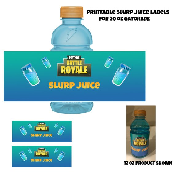 photograph regarding Free Fortnite Printable Labels called Fortnite Printable Gatorade Label for 20 oz bottles