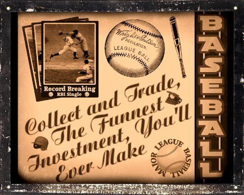 Mancave Gift sign Baseball sports art / vintage retro Wall decor by ...