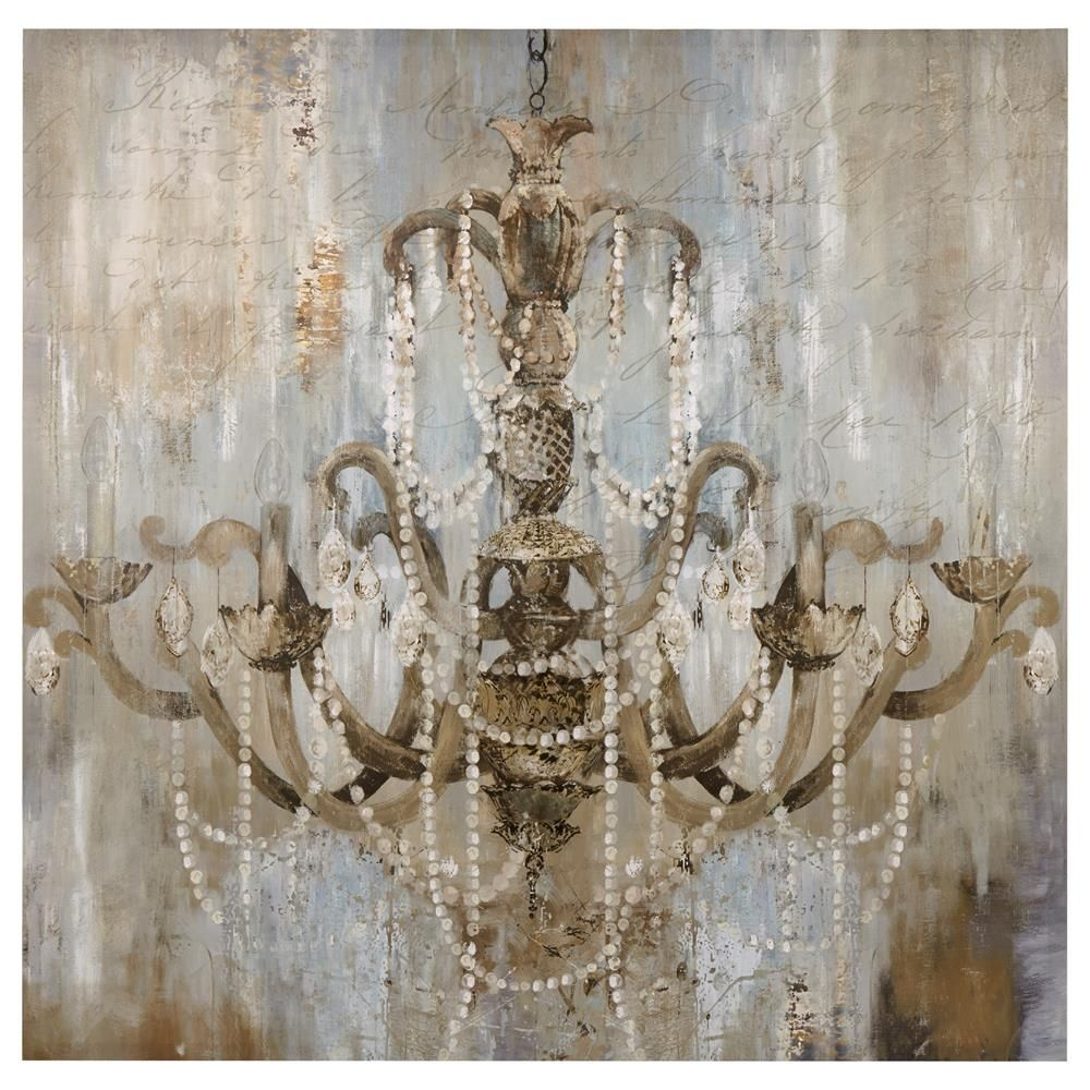 Canvas Chandelier Painting Framed Art Wall Decor Bouclair Com