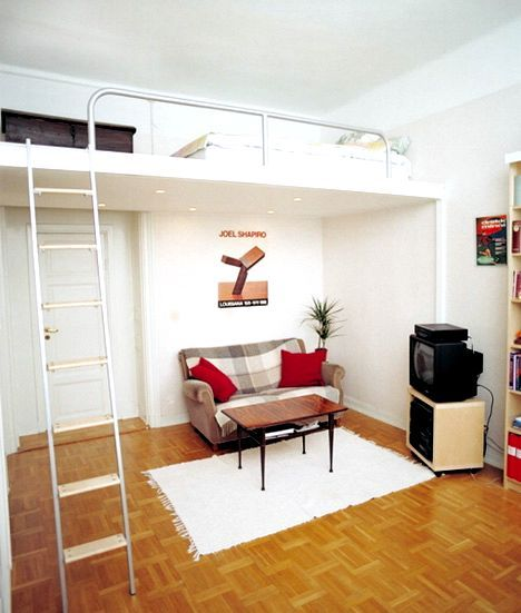 Loft Bed For Adults With Small Spaces With Images Adult Loft Bed Beds For Small Rooms Beds For Small Spaces