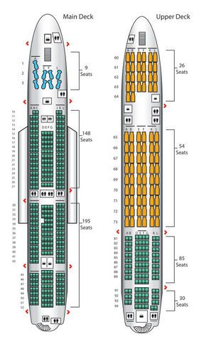 Air France S Three Class A380 Has A Small Economy Section At The