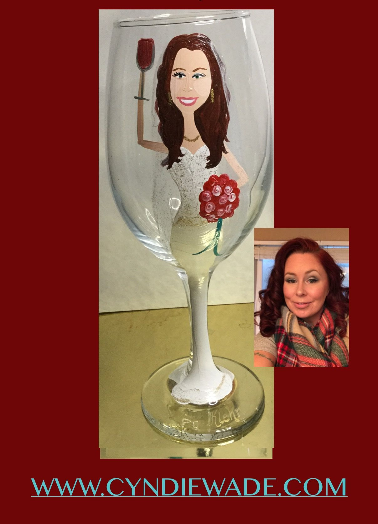 Pin By Custom Creations By Cyndie Wad On Caricature Wine Glasses Custom Painted Bridesmaid Glasses Bridesmaid Glasses Wine Glasses Wine Glass