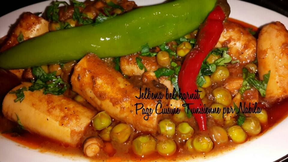 Jilbena bil karnit recette tunisienne tunisme - Cuisine tunisienne poisson ...