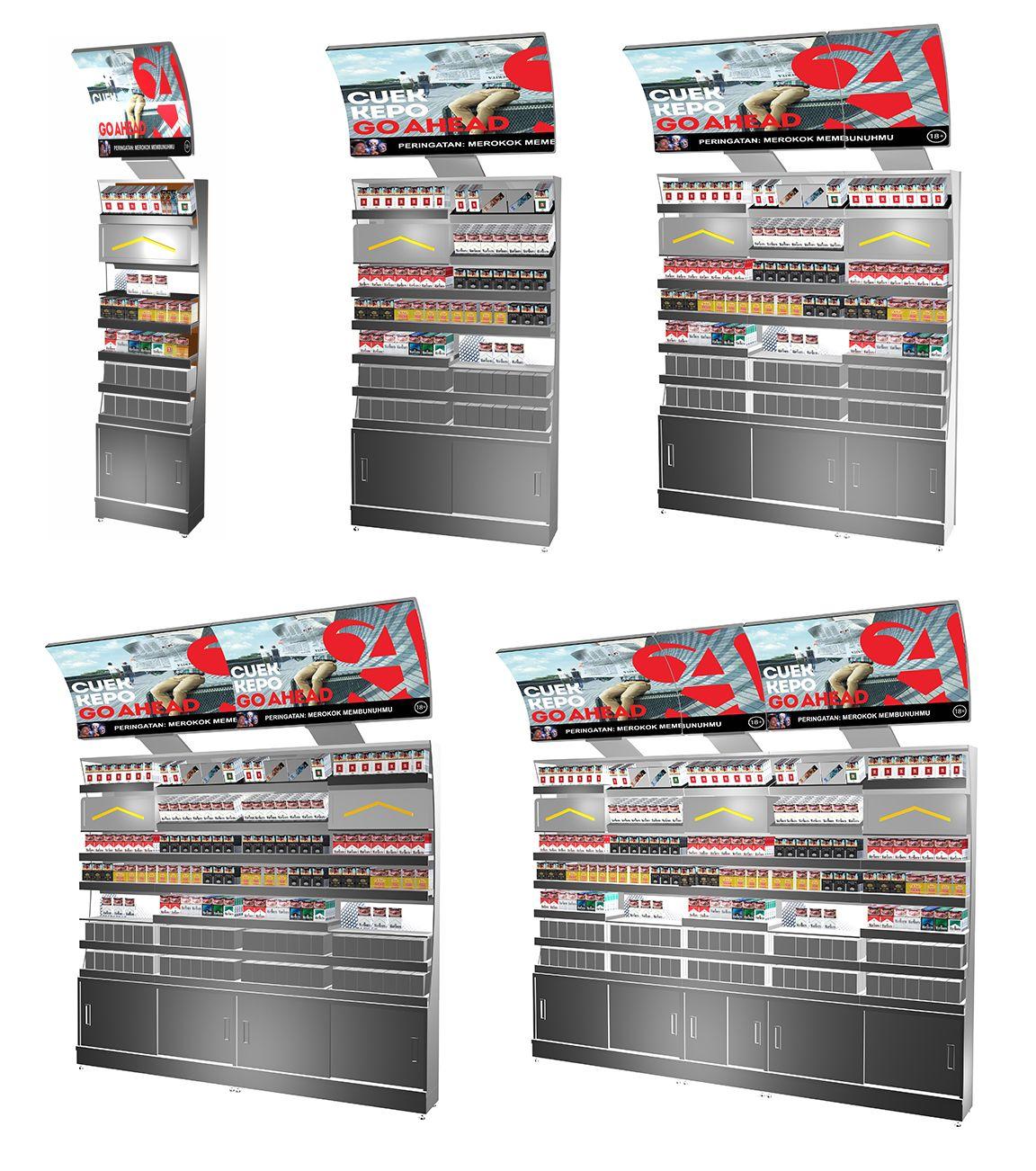 Sampoerna Retail Display Backwall And Countertop On Behance