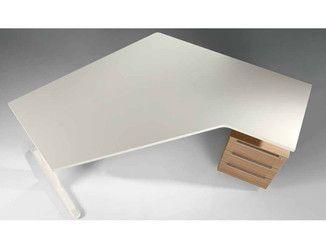 Scrivania Ad Angolo Design : Scrivania ad angolo in legno con cassetti medley scrivania ad