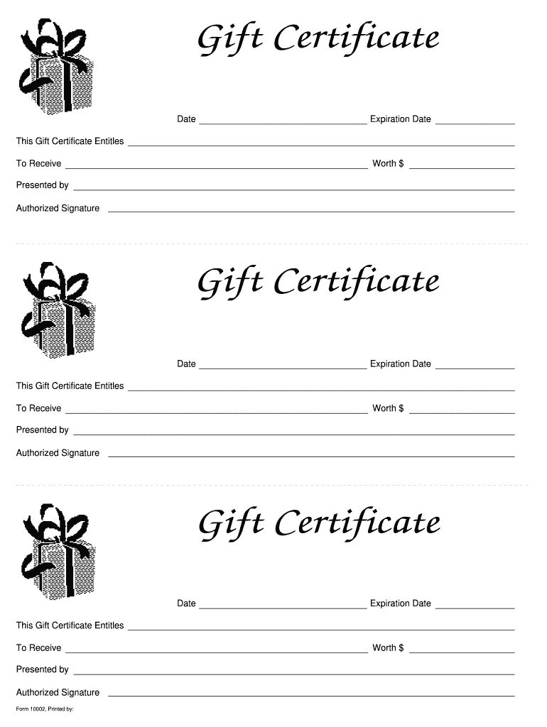 Gift Certificate Templates Printable Fill Online For Fillable Gift Ce Free Gift Certificate Template Gift Certificate Template Word Gift Certificate Template Printable gift certificates online free