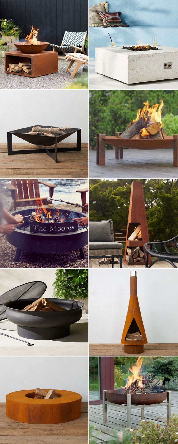 15+ Modern Fire Pits To Complete Your Backyard Oasis #backyardoasis