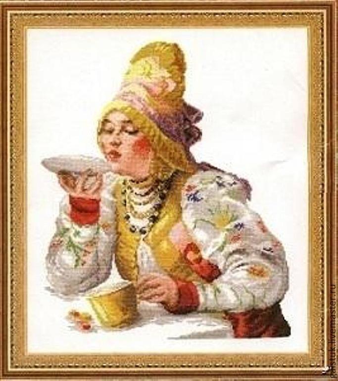 Вышивка бисером за чаем купить