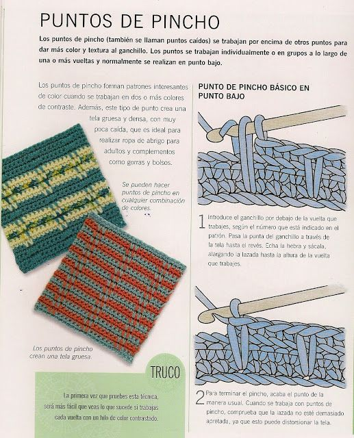 Patrones Crochet: Punto Pincho de Crochet Tutorial •✿• Teresa ...