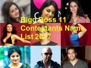 Bigg Boss 12 Contestants Name List 2018 with Photos | Bigg Boss 11