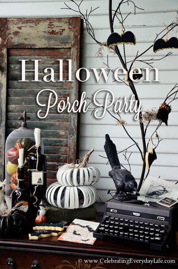 Halloween Porch Party  Part 1 Halloween porch, Party fun and - fun halloween decorating ideas