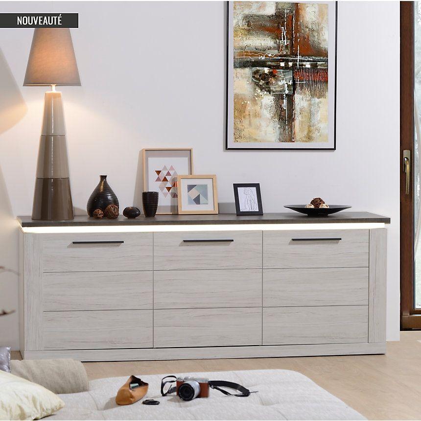 Buffet 3 Portes Sully Pas Cher Buffet Camif Mobilier De Salon Meuble Pas Cher Et Decoration Maison