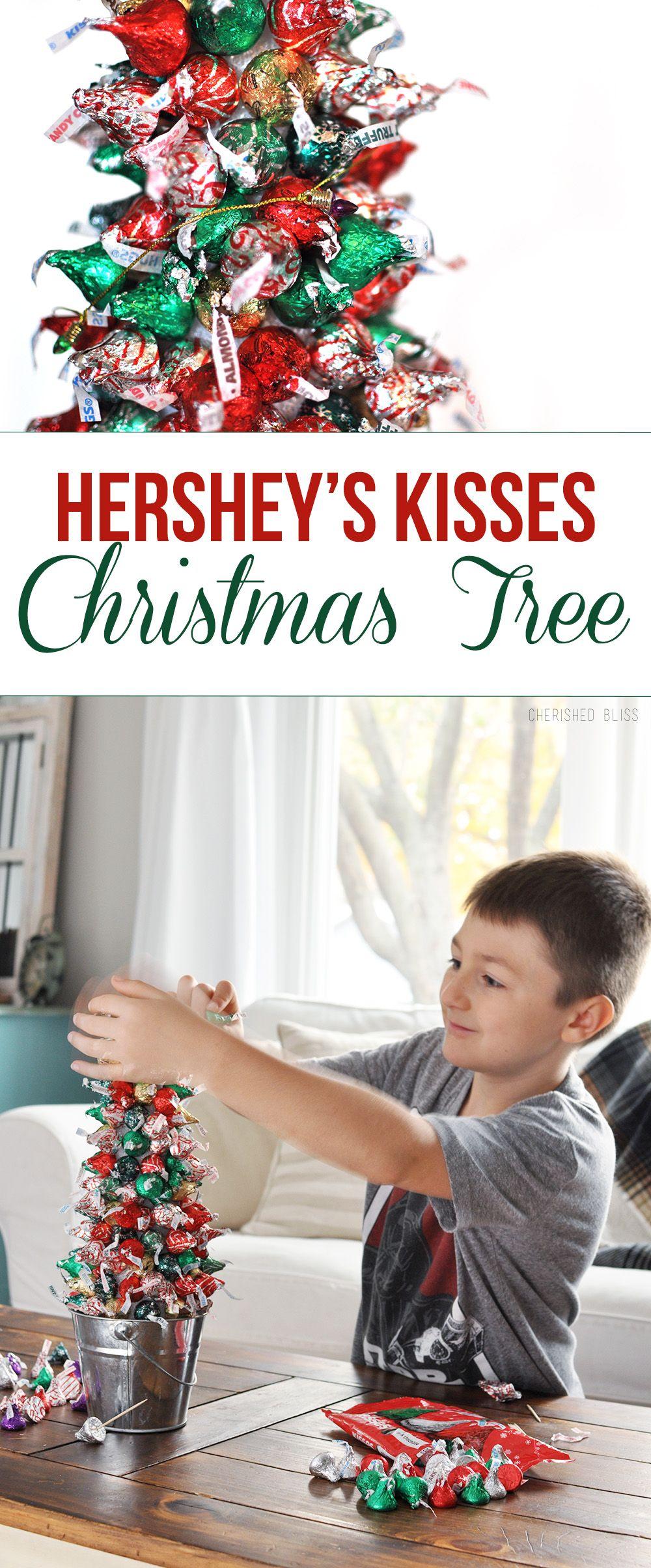 Hershey's Kisses Christmas Tree Tutorial | Diy christmas ...