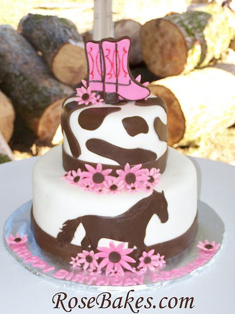 Cowgirl Horse Birthday Cake Blakely Jenkins Cadees Birthday