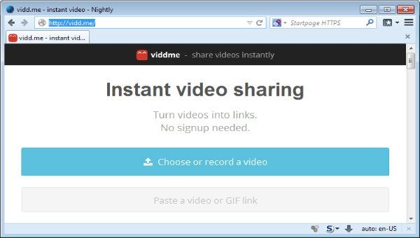 Manda vídeos con VIDDME
