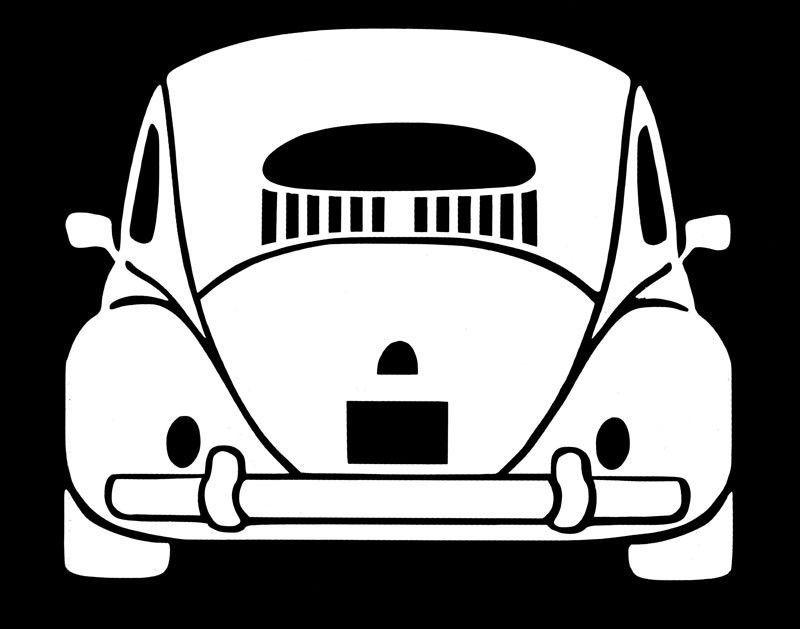 VW VOLKSWAGEN  FUNNY Love Bug WINDOW  VINYL DECAL