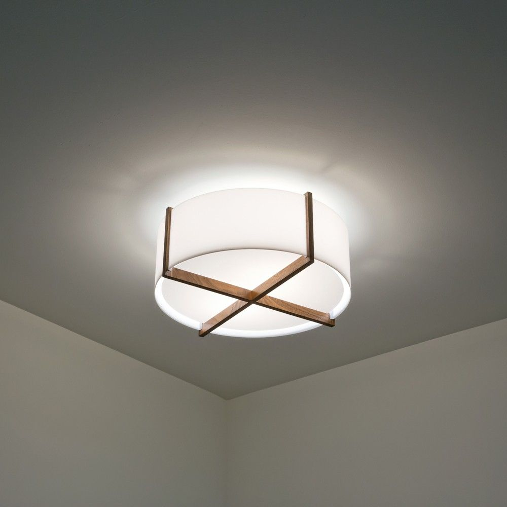 Modern With A Mid Century Feel The Plura Flush Mount Ceiling Light Is Simple