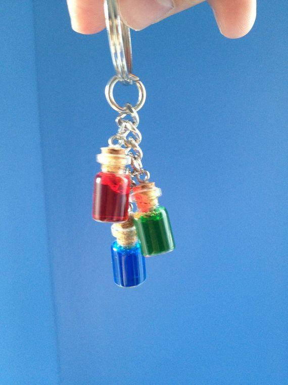 Legend of Zelda 3 potion Key Chain by GameNerdCrafts on Etsy, $9.00