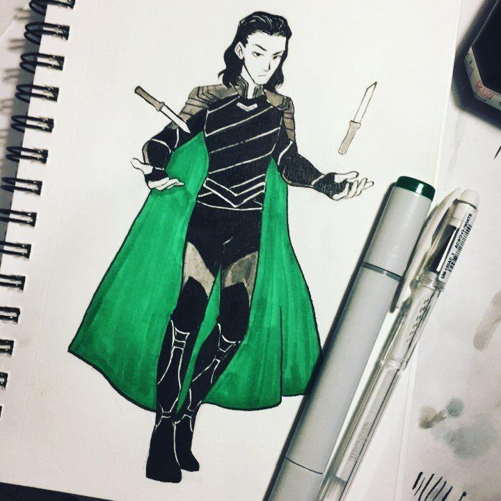 Pin by dawn on marvel | Marvel drawings, Loki art, Loki fanart