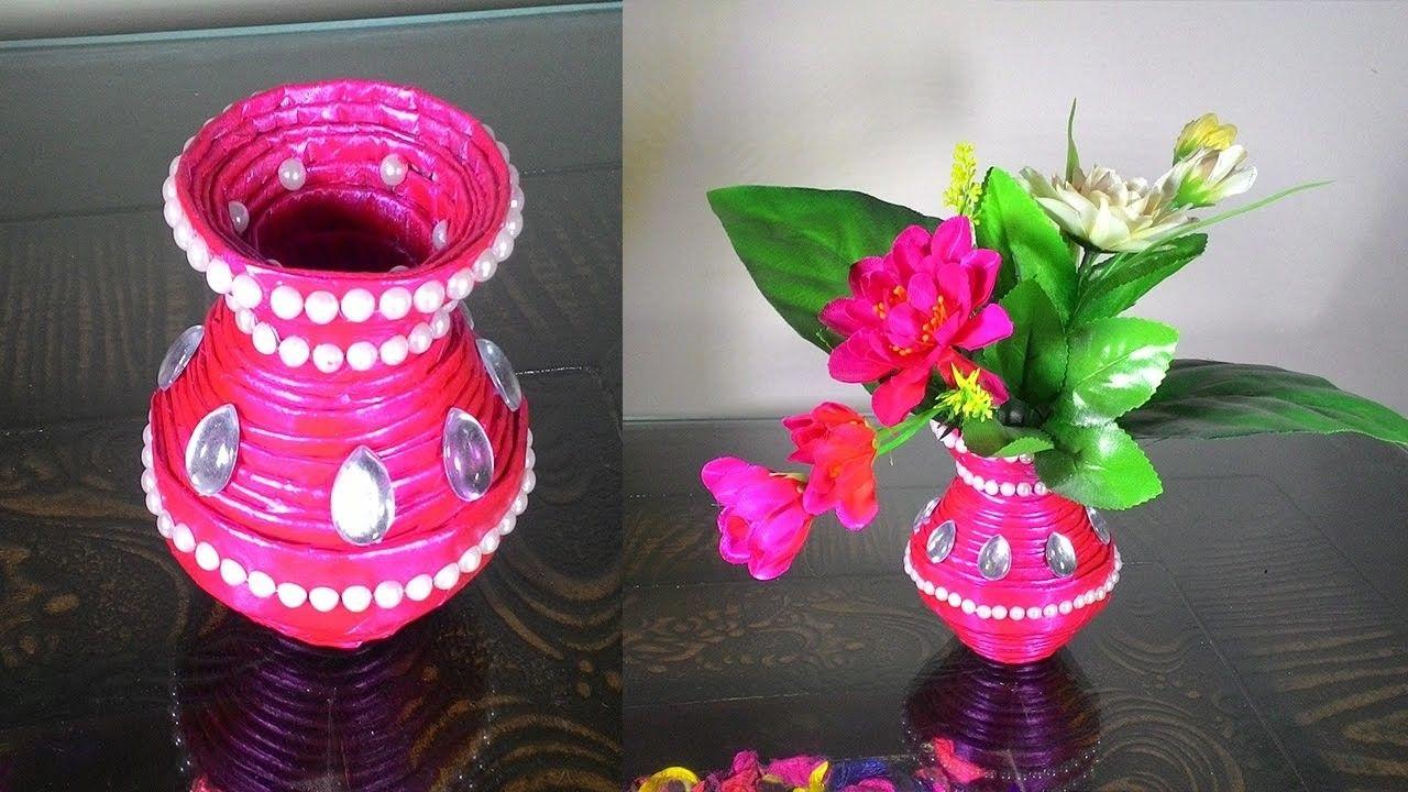 How To Make Newspaper Flower Vase Pinterest Newspaper Flowers