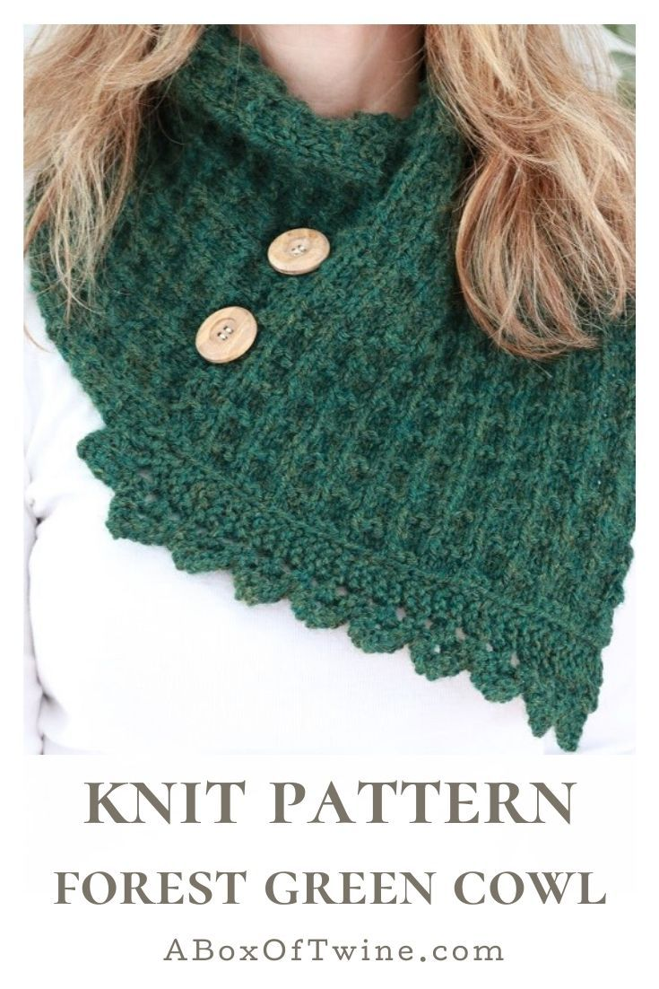 Make a Knit Cowl with this free pattern in 2020 | Cowl ...