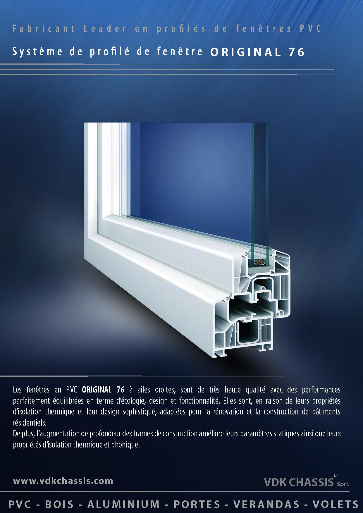 8b38f6da3286 Les fenêtres ORIGINAL 76 sont solides et présentent un système à 6 chambres  avec joint de