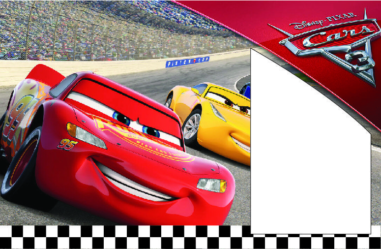Free FREE Printable Disney CARS Lightning McQueen Birthday Invitation Template Templates Happy