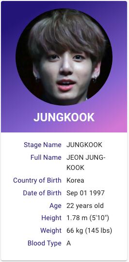 Jungkook Bts Profile Bts Ages Bts Name Jungkook