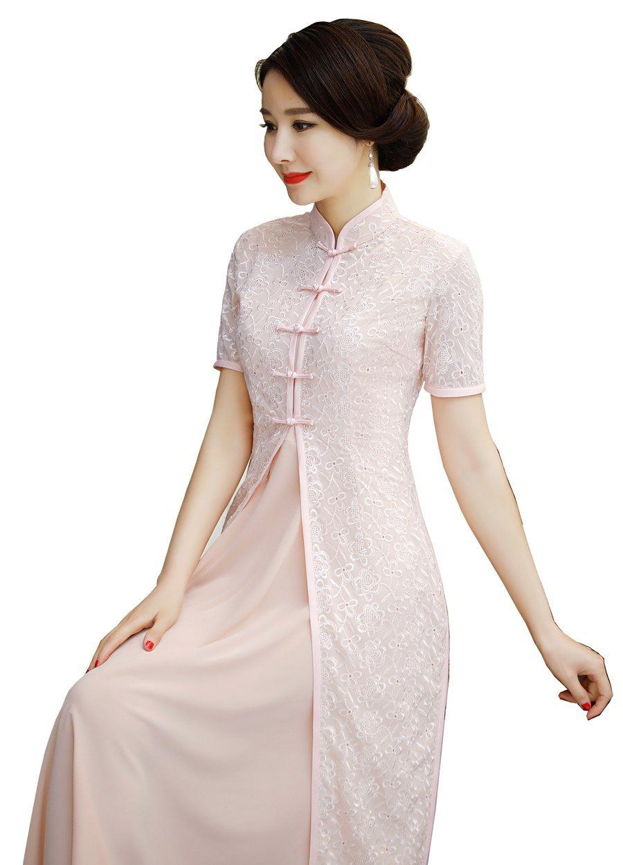 15d9448daffd Shanghai Story 2018 New Sale Spring Aodai Vietnam Cheongsam Dress For Women  Traditional Clothing ao dai Set Long qipao