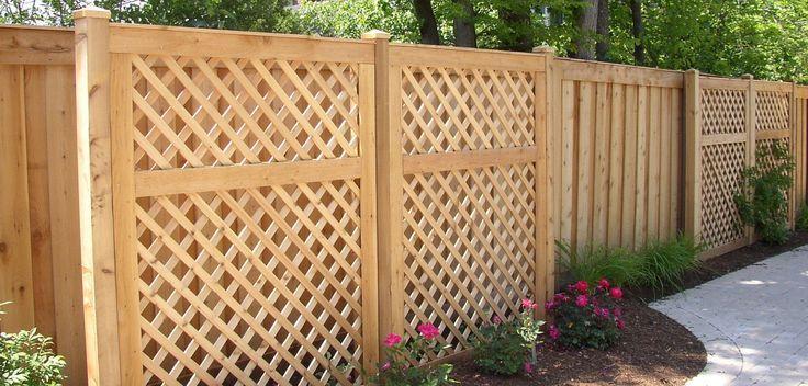 Outdoor Lattice Fence Panels Lattice Panel W Top Wood Fence
